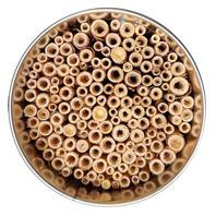 Neudorff Wildgärtner Freude Nützlingsquartier für Wildbienen und Grabwespen Inneneansicht