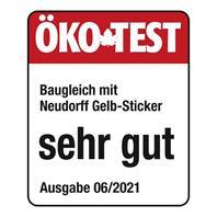 Ökotest Logo Neudorff Gelb-Sticker