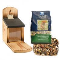 Sparset für Eichhörnchenfutter +  Futterautomat