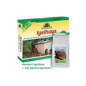 Neudorff Set Igelhaus + Spezial-Igelfutter