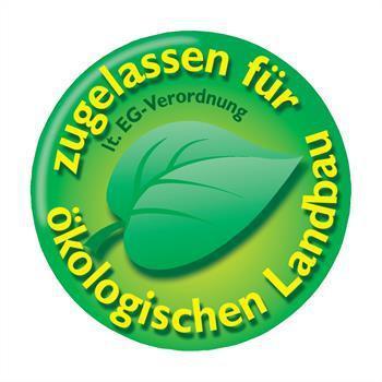 Logo - zugelassen für ökologischen Landbau