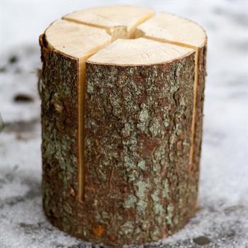 Holzblock für Schwedenfeuer