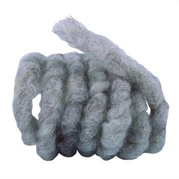 Wollkordel aus Schafwolle graubraun