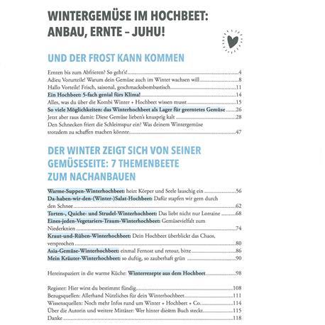 Das sensationelle Winterhochbeet Inhaltsverzeichnis