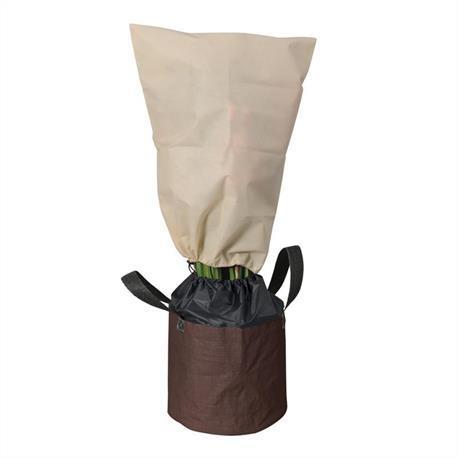 Frostschutzsack mit zwei Tragegriffen und Winterschutzhaube