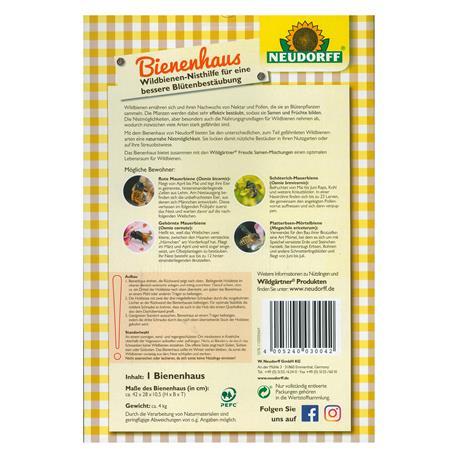 Bienenhaus-Verpackung Rückseite