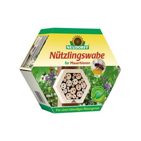 Nützlingswabe für Mauerbienen