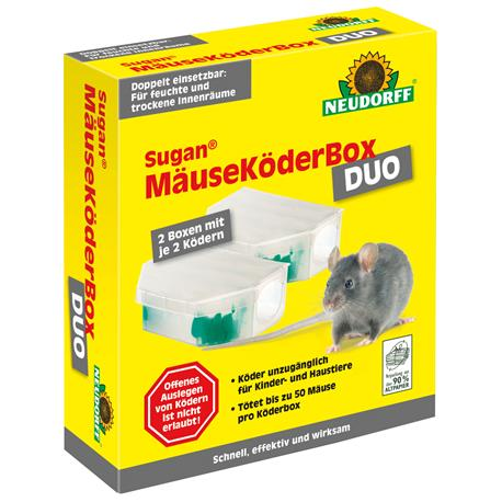 Neudorff Sugan MäuseKöderBox DUO