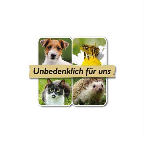unbedenklich für Haustiere, Bienen und Nützlinge