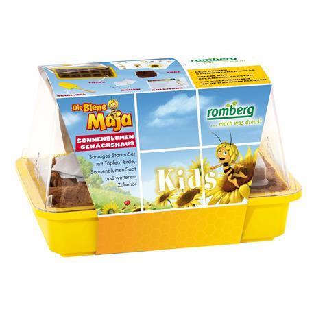 BIENE MAJA Sonnenblumen-Gewächshaus für Kinder