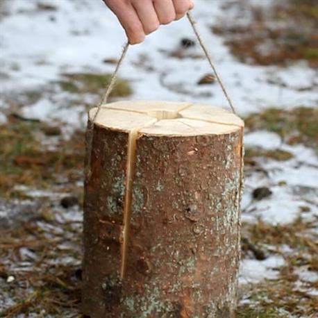 Schwedenfeuer mit praktischer Tragschnur
