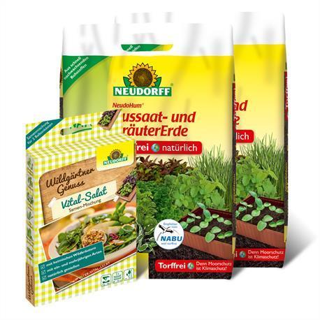 Set Wildgärter Vital-Salat + Aussaaterde