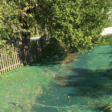 Laubschutz-Netz für den Teich Anwendung
