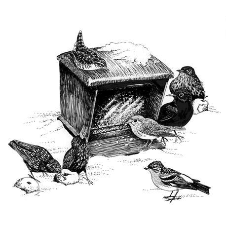 Vogelfuttersilo