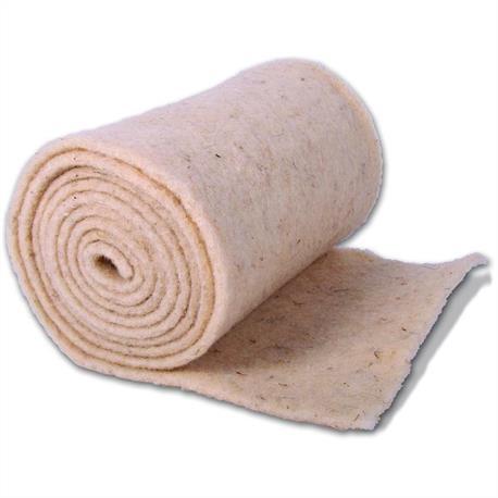 Wickelstreifen aus Schafwolle naturweiß