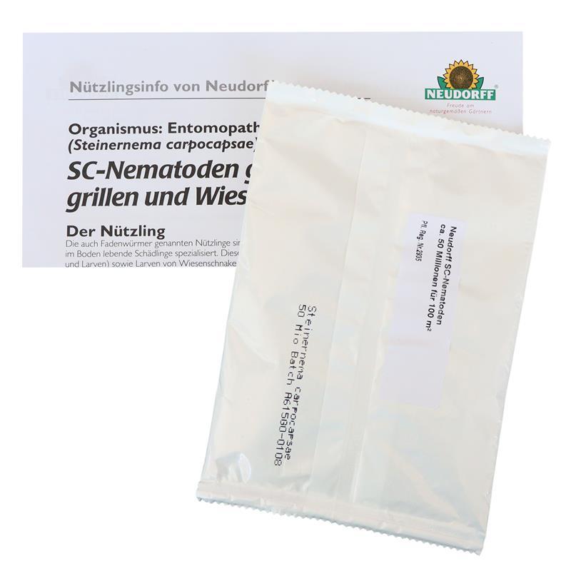 SC Nematoden Nützlinge gegen Maulwurfsgrillen Wiesenschnaken u Erdraupen 50 Mio
